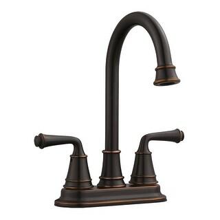"Design House 524777  Eden Double Handle 4"" Centerset Bar Faucet with Metal Lever Handles - Oil Rubbed Bronze"