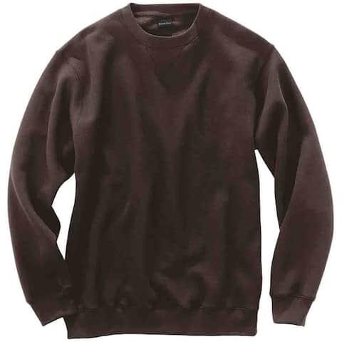 River's End Crew Neck Sweatshirt Mens Athletic Sweatshirt - Brown
