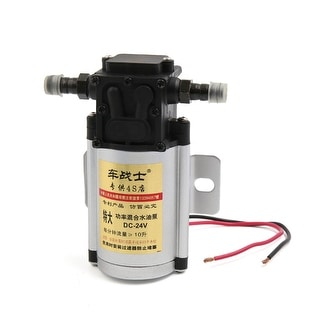 Car Vehicle Black Silver Tone Mixed type Electric Water Pump DC 24V