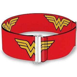 Wonder Woman Logo Red Cinch Waist Belt   ONE SIZE - One Size Fits most