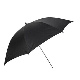 Unique Bargains 33 83cm Photography Studio Flash Light Reflector Umbrella Black Silver Tone