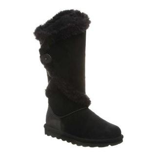 Bearpaw Women's Sheilah Knee High Boot Black II Cow Suede