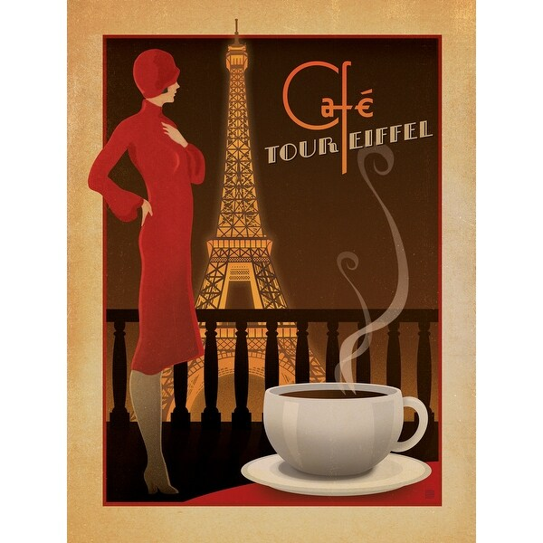 Café Tour Eiffel - Anderson Design Group - 18x14 Matte Poster Print Wall Art
