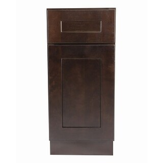 """Design House 561902 Brookings 9"""" Wide x 34-1/2"""" High Single Door Base Cabinet with Single Drawer - ESPRESSO"""