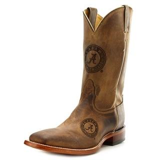 Nocona Alabama Branded Men B Square Toe Leather Brown Western Boot