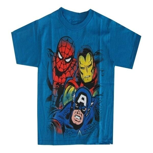 524f4e2c Shop Marvel Little Boys Aqua Captain America, Spiderman Iron Man Print T- Shirt - Free Shipping On Orders Over $45 - Overstock - 18506631