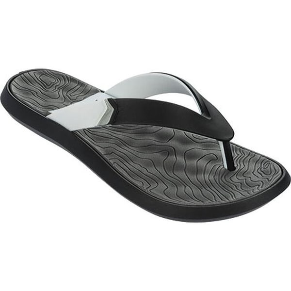 7e830cace1d911 Shop Rider Men s R1 Plus II Thong Sandal Black White Grey - Free Shipping  On Orders Over  45 - Overstock.com - 11795173
