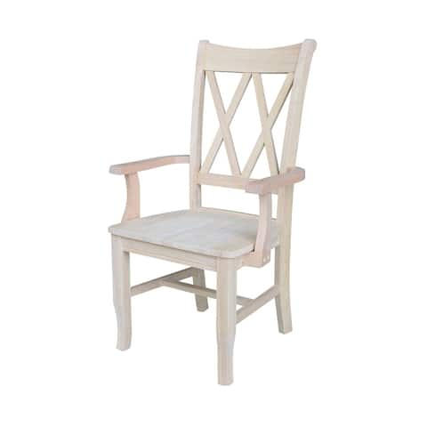 Double X-Back Chair with Arms