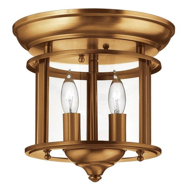 Hinkley Lighting 3472 2-Light Semi-Flush Ceiling Fixture from the Gentry Collection - N/A