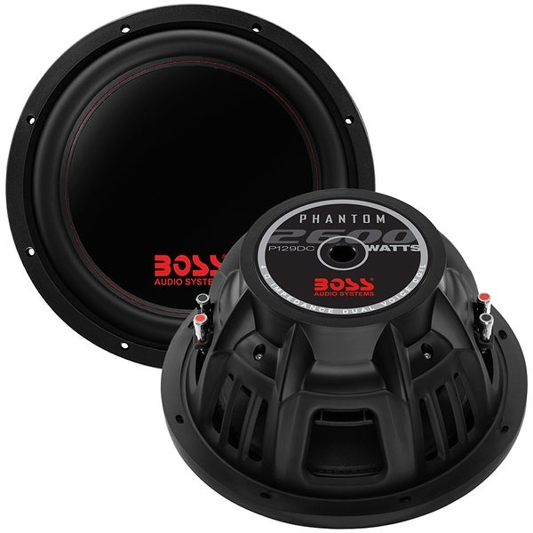 "Boss Phantom 12"" Woofer2600W Max Dual 4 Ohm voice coil"