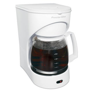 Proctor Silex 43501Y 12 Cup Drip Coffee Maker - White