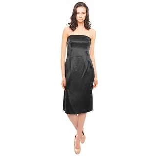 Escada Duchesse Satin Strapless Cocktail Evening Dress