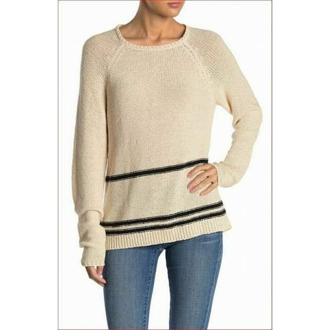 MAGASCHONI Womens Sweater Beige Combo Size XS Striped Pullover Tunic