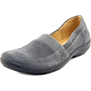 Naturalizer Fritz Women W Square Toe Suede Gray Loafer