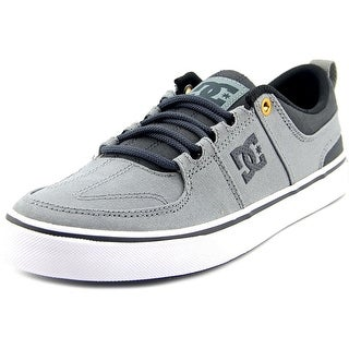 DC Shoes Lynx Vulc Tx Youth Round Toe Canvas Gray Skate Shoe