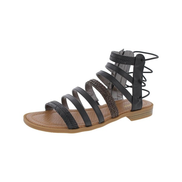 Nine West Womens Xema Gladiator Sandals Caged Braided