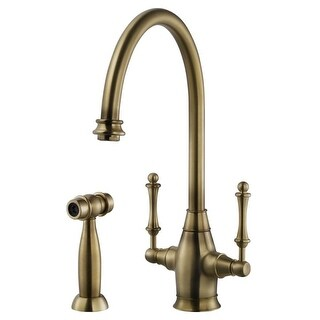 Houzer CRLSS-650 Charleston Kitchen Faucet with Sidespray and CeraDox Lifetime T