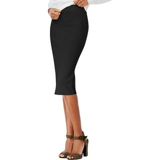 Rachel Rachel Roy Womens Pencil Skirt Jacquard Pull On