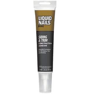 Liquid Nails LN-501 Siding & Trim Construction Adhesive, 5 Oz, White|https://ak1.ostkcdn.com/images/products/is/images/direct/5b9d07e122b0a585467796ffd96dc5b3b58ab02d/Liquid-Nails-LN-501-Siding-%26-Trim-Construction-Adhesive%2C-5-Oz%2C-White.jpg?impolicy=medium