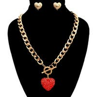Heart Toggle Necklace Set