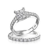 c447c66d1e3 Pear Shaped Solitaire CZ Engagement Wedding Ring Set Thin Traditional Band  Cubic Zirconia 925 Sterling Silver
