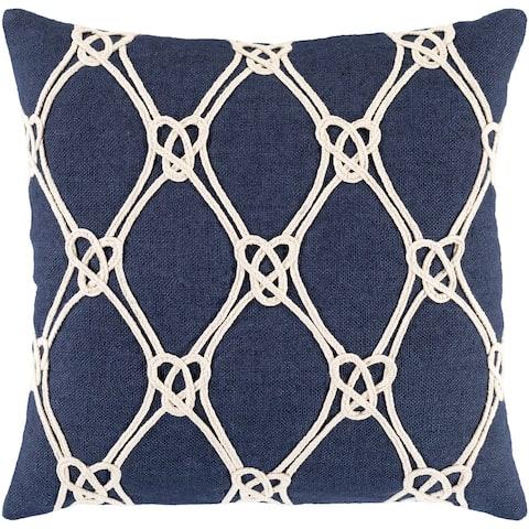Beacon Nautical Knots 20-inch Jute Throw Pillow