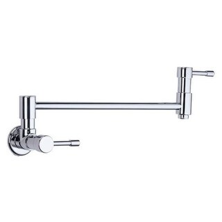 "Danze D205012 Wall Mounted Pot Filler Faucet with 15"" Double-Jointed Swinging Spout From the Melrose Collection"