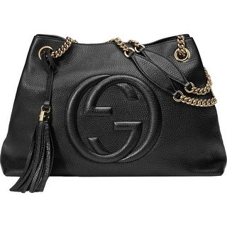 Gucci Womens Soho Shoulder Handbag Leather Chain Straps - LARGE