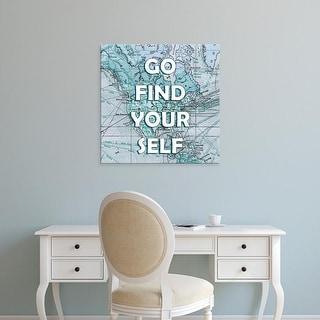 Easy Art Prints Studio W's 'Map Words I' Premium Canvas Art