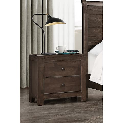 The Gray Barn Springing Water Modern Rustic 2-drawer Nightstand