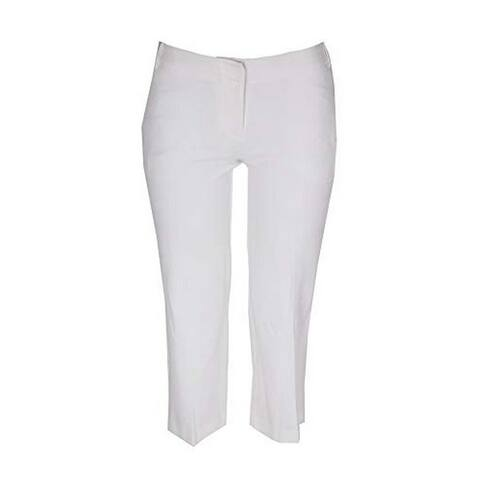 Bar III Womens Crepe High Rise Culottes White 6