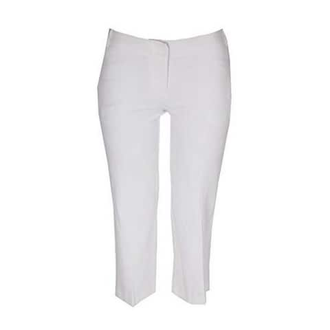 Bar III Womens Crepe High Rise Culottes White 8