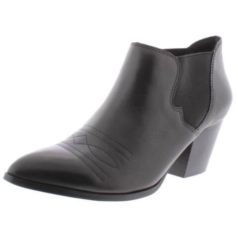 Bella Vita Womens Emilia Ankle Boots Leather Heeled - Black Leather - 10 Narrow (AA,N)