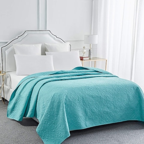 Sophia & William Bed Quilt Bedspread Coverlet - Reversible, Lightweight