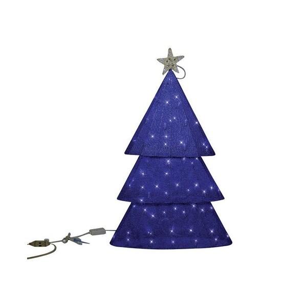 Shop Sylvania V54355-71 Illuminet Christmas LED Yard Tree Art, Mesh ...