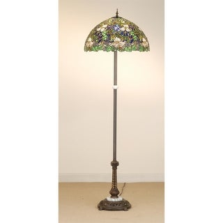 Meyda Tiffany 65445 Stained Glass / Tiffany Floor Lamp from the Trillium & Violet Collection