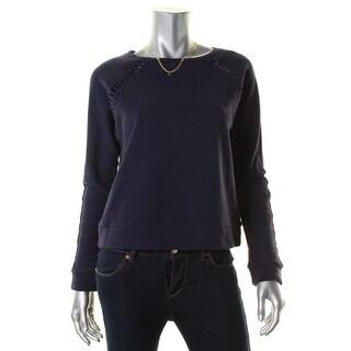 Scotch & Soda Womens Sweatshirt Laser Cut Cotton