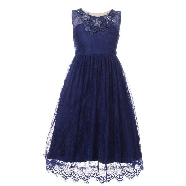 Decorated Lace Junior Bridesmaid Dress