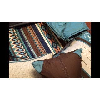 Madison Park Harley Blue Quilted 6-piece Coverlet Set