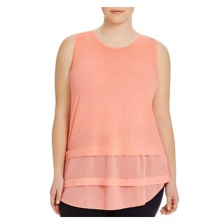 MICHAEL Michael Kors Womens Plus Blouse Tiered Sleeveless
