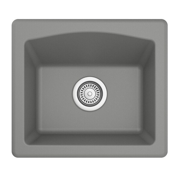 Karran Drop-in or Undermount Quartz Single Bowl Kitchen Sink. Opens flyout.