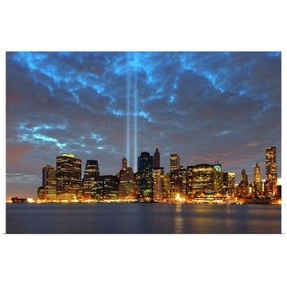 """Tribute in lights, NYC"" Poster Print"