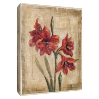 "PTM Images 9-154225  PTM Canvas Collection 10"" x 8"" - ""Scarlet Blossom I"" Giclee Flowers Art Print on Canvas"