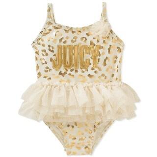 Juicy Couture Girls 12-24 Months Foil Tutu Swimsuit - GOLD - 18 months