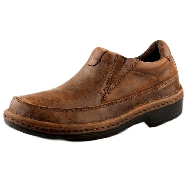 Roper Western Shoes Mens Slip On Super Flex Brown