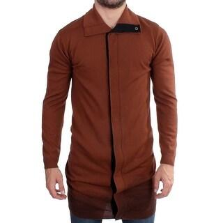 Balmain Balmain Brown wool maxi long cardigan