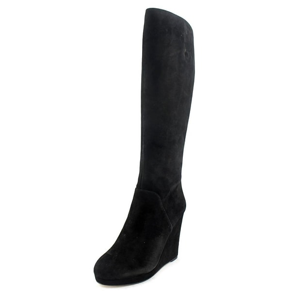 bd6284f18f0 Nine West Harvee Women Round Toe Suede Black Knee High Boot - Free Shipping  On Orders Over  45 - Overstock.com - 20872050