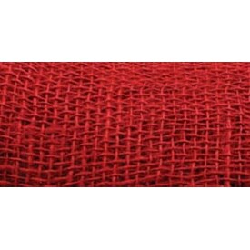 "Red - Jute Ribbon 4""X10yd"