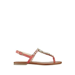 G by Guess Womens Leesure Open Toe Casual T-Strap Sandals