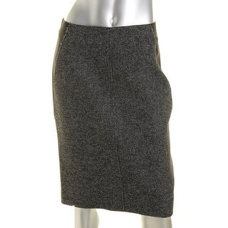 Elie Tahari Womens Mixed Media Lined Pencil Skirt